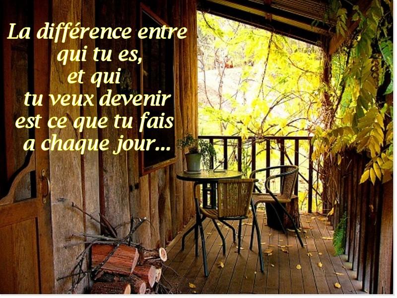 La différence et l'attitude  entre ce que tu es et ce que tu veux devenir